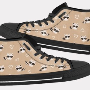 Raccoon Shoes Cute Raccoon Shoes Cute Raccoon Hi Tops 2 Birthday Gifts Party Favors Custom Gift for Wife Girlfriend 767087777 10105