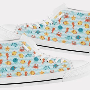 Sea Life Shoes Ocean Shoes Ocean Hi Tops 1 Birthday Gifts Party Favors Custom Gift for Wife Girlfriend 753437144 9573
