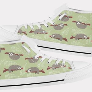 Sloth Shoes Cute Sloth Shoes Sloth Hi Tops 3 Birthday Gifts Party Favors Custom Gift for Wife Girlfriend 753472382 8584