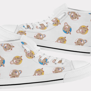 Sloth Shoes Cute Sloth Shoes Sloth Hi Tops 7 Birthday Gifts Party Favors Custom Gift for Wife Girlfriend 767355519 8432
