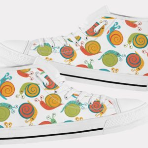 Snail Shoes Cute Snail Shoes Snail Hi Tops 8 Birthday Gifts Party Favors Custom Gift for Wife Girlfriend 753476444 8052