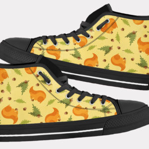 Squirrel Shoes Cute Squirrel Shoes Squirrel Hi Tops 2 Birthday Gifts Party Favors Custom Gift for Wife Girlfriend 753486424 7558