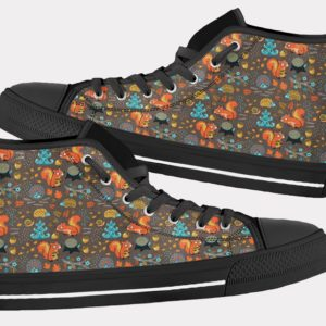 Squirrel Shoes Cute Squirrel Shoes Squirrel Hi Tops 7 Birthday Gifts Party Favors Custom Gift for Wife Girlfriend 753486562 7406
