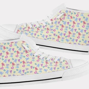 Teddy Bear Shoes Cute Bear Shoes Teddy Bear Hi Tops 2 Birthday Gifts Party Favors Custom Gift for Wife Girlfriend 753488794 7178