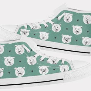Teddy Bear Shoes Cute Bear Shoes Teddy Bear Hi Tops 3 Birthday Gifts Party Favors Custom Gift for Wife Girlfriend 767371807 7140