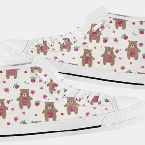 Teddy Bear Shoes Cute Bear Shoes Teddy Bear Hi Tops 4 Birthday Gifts Party Favors Custom Gift for Wife Girlfriend 767371835 7102