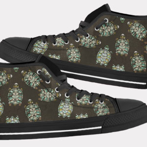 Turtle Shoes Sea Turtle Shoes Cute Turtle Shoes Turtle Hi Tops 10 Birthday Gifts Party Favors Custom Gift for Wife Girlfriend 754004690 6078