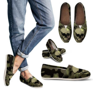 Camo Skull Women Casual Shoes 723674393 5202