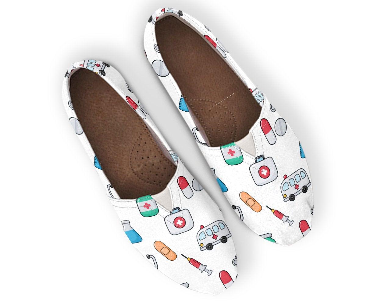 Cute Nurse Shoes Nursing Shoes Nurse Shoes Women Canvas Shoes Womens Slip Ons Women Casual Shoes Nurse Gift Doctor Shoes 757114166 3541