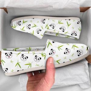 Panda Womens Shoes Panda Shoes Cute Shoes Canvas Women Shoes Womens Slip Ons Casual Shoes Panda Gifts Panda Lover Gifts 773491597 3371
