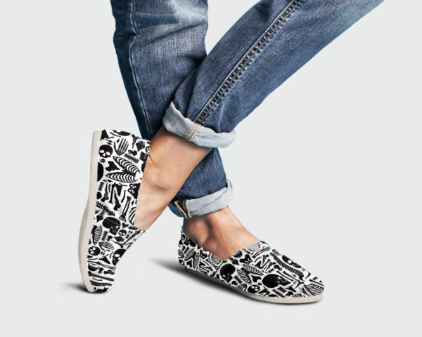 Skeleton Womens Shoes Anatomy Shoes Cute Shoes Canvas Women Shoes Womens Slip Ons Casual Shoes Skeleton Gifts Skeleton Gifts 759616072 3361