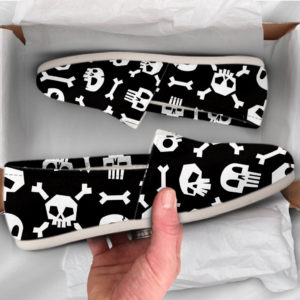 Cute Skull Shoes Bones Shoes Cute Shoes Canvas Womens Shoes Girls Slip Ons Casual Shoes Skull Gifts Skull Print 759625500 3298