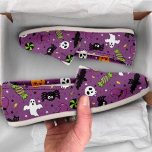 Cute Halloween Shoes Womens Shoes Cute Shoes Canvas Women Shoes Womens Slip Ons Casual Shoes Halloween Gifts Halloween Print 773737613 3202
