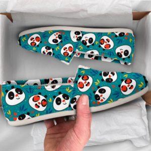 Panda Lover Shoes Womens Shoes Cute Shoes Canvas Women Shoes Womens Slip Ons Casual Shoes Panda Gifts Panda Print Panda 773738875 3152
