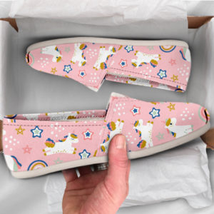 Pink Unicorn Shoes Unicorn Womens Shoes Cute Shoes Canvas Women Shoes Girls Slip Ons Casual Shoes Unicorn Gifts Unicorn Print 761047624 2867