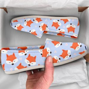 Fox Lover Shoes Fox Womens Shoes Cute Shoes Canvas Women Shoes Girls Slip Ons Casual Shoes Fox Lover Gifts Fox Print Pattern 761048520 2843