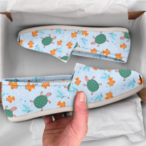 Fish and Turtle Shoes Womens Shoes Cute Shoes Canvas Women Shoes Girls Slip Ons Casual Shoes Turtle Lover Gifts Turtle Print 775162601 2723