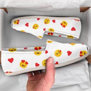Emoji Shoes Womens Shoes Girls Shoes Canvas Women Shoes Girls Slip Ons Casual Shoes Emoji Gifts Emoji Print Emoji Pattern 761533904 2447