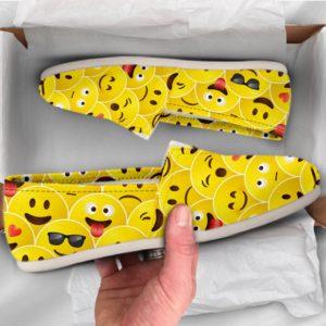 Yellow Emoji Shoes Funny Womens Shoes Girls Shoes Canvas Women Shoes Girls Slip Ons Casual Shoes Emoji Gifts Emoji Print 761534070 2435