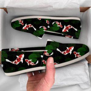 Koi Fish Shoes Womens Shoes Cute Shoes Canvas Women Shoes Girls Slip Ons Casual Shoes Koi Fish Gifts Koi Fish Print 762059630 2087