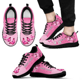 Breast Cancer Awareness_Anh Sneakers, Running Shoes, Shoes For Womens, Mens, Custom Shoes, Low Top Shoes, Customized Sneaker
