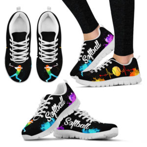 SOFTBALL ART HB WATERCOLOR SHOES@ summerlifepro softhb3786765@sneakers 219662