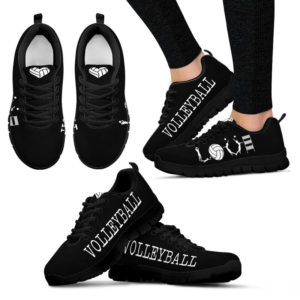 VOLLEYBALL LOVE BLACK SHOES@ summerlifepro volley82787@sneakers 218654
