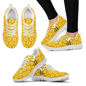 PICKLEBALL BALL YELLOW PATTERN BEE SHOES@ summerlifepro PICK6534663@sneakers 217334