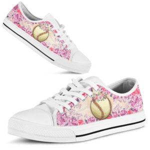 softball and rose flower low top TTA@ summerlifepro softball2435623@low-top 210148
