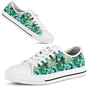 Volleyball Exercising Watercolor Pattern LOW TOP NAL@ summerlifepro volleyballexrc816@low-top 208308