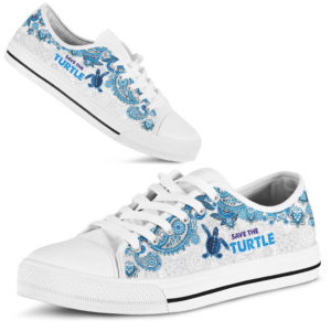 SAVE THE TURTLE - TURTLE LOW TOP@ zolagifts whiteturtle@low-top 205554