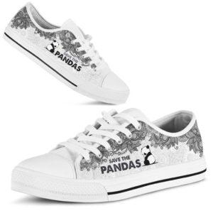 SAVE THE PANDAS - PANDAS LOW TOP@ zolagifts whitepanda@low-top 205374