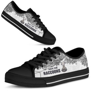 SAVE THE RACCOONS - RACCOONS LOW TOP@ zolagifts blackraccoon@low-top 205284