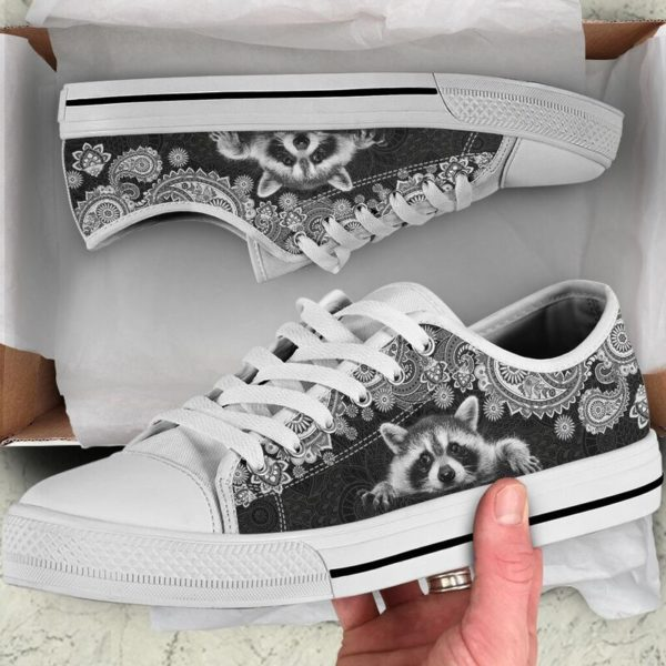 RACCOON LOW TOP@ zolagifts whiteraccoon@low-top 204115