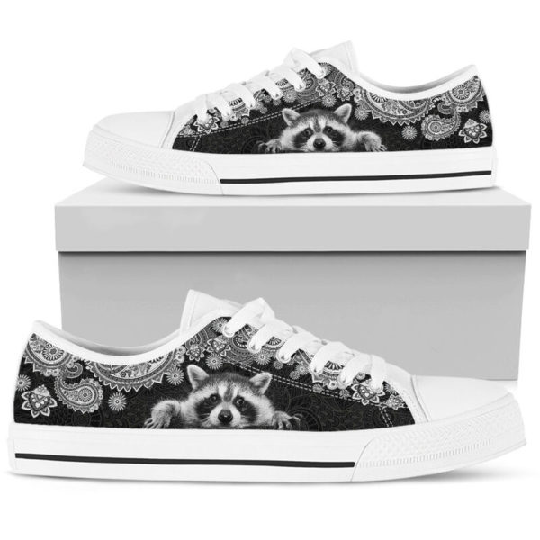 RACCOON LOW TOP@ zolagifts whiteraccoon@low-top 204114