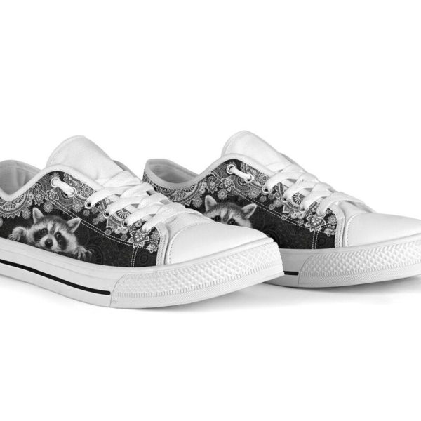 RACCOON LOW TOP@ zolagifts whiteraccoon@low-top 204113