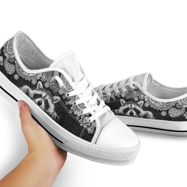 RACCOON LOW TOP@ zolagifts whiteraccoon@low-top 204111