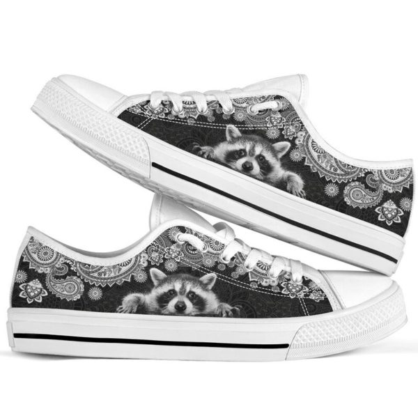 RACCOON LOW TOP@ zolagifts whiteraccoon@low-top 204110