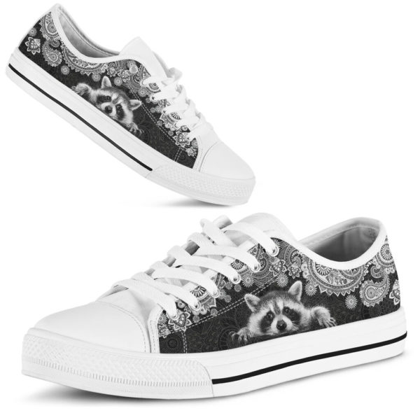 RACCOON LOW TOP@ zolagifts whiteraccoon@low-top 204108