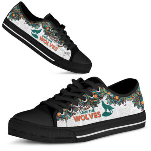 SAVE THE WOLVES - WOLVES LOW TOP@ zolagifts blackwolveslowtop@low-top 202893