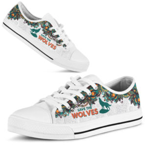 SAVE THE WOLVES - WOLVES LOW TOP@ zolagifts wolveslowtop@low-top 202758