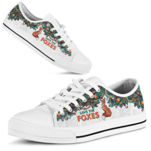 SAVE THE FOXES - FOX LOW TOP@ zolagifts whitelowtopfox@low-top 200733
