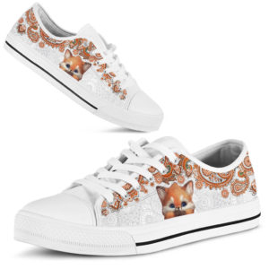 FOX LOW TOP@ zolagifts cutefoxwhite@low-top 199788