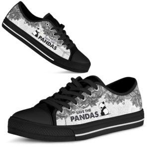 SAVE THE PANDAS - PANDAS LOW TOP@ zolagifts blackpanda@low-top 199518