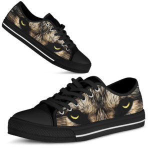 Menacing expression and mystic charm of wolf low top shoes@ bonloves wolf lts 01@low-top 197854