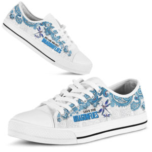 JUST A GIRL WHO LOVES DRAGONFLIES - DRAGONFLIES LOW TOP@ zolagifts lovedragonflies@low-top 197629