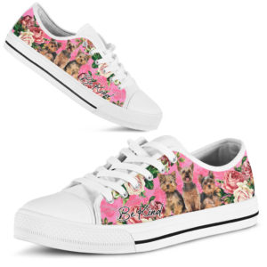 """TH 9 Yorkshire Terrier Be Kind Rose Low Top@ shoesnp th 9 yorkshire terrier be kind rose low top@low-top"""" 197269"""