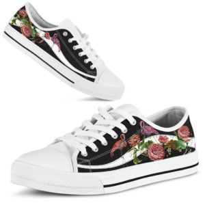 TR Flamingo Embroidery Rose Low Top Shoes@ shoesnp tr flamingo embroidery rose low top shoes@low-top 197089