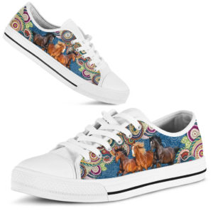 "dt-3 Horse blue pattern low top shoes@ shoesnp dt 3 Horse blue pattern low top shoes@low-top"" 196864"