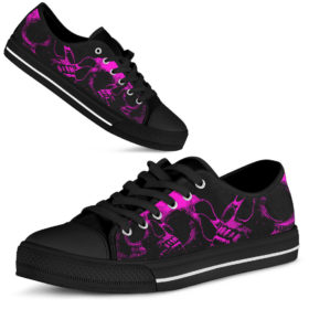 Skull Shoes Shoes License Plate Shoes for Mens, Womens Tennis Custom Shoes, Custom Low Top